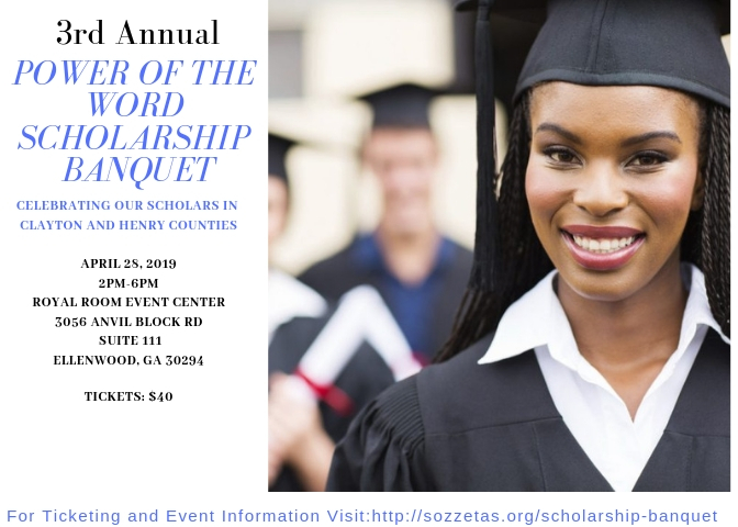 2019 Annual Power of the Word Scholarship Banquet