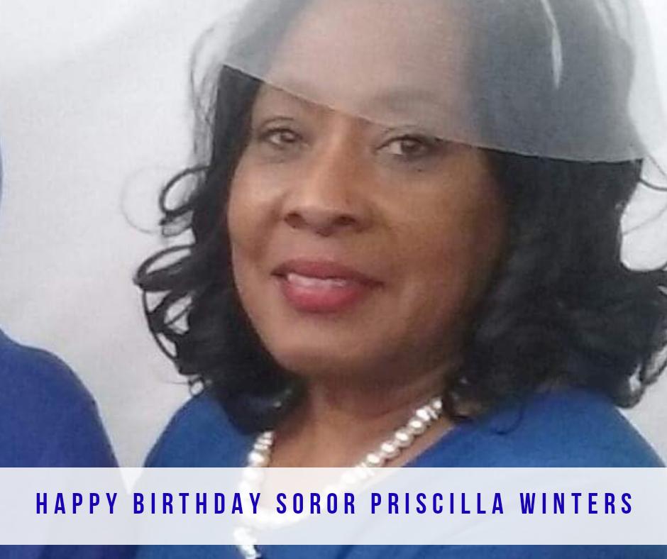 Happy Birthday Soror Priscilla Winters