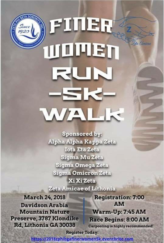 March 24-2018 - Finer Women Run 5K Walk