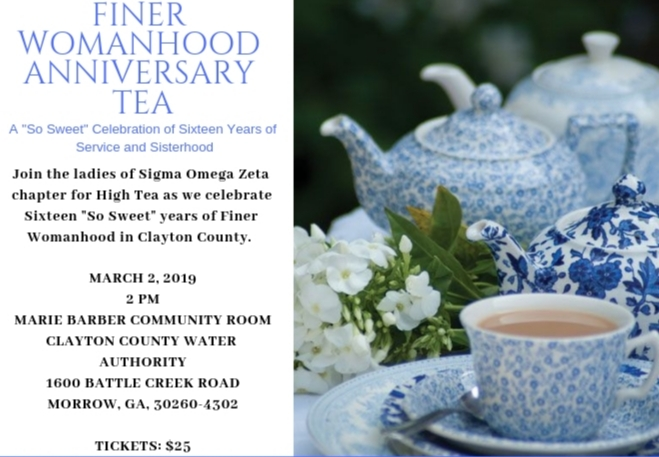 March 2, 2019: Finer Womanhood Tea