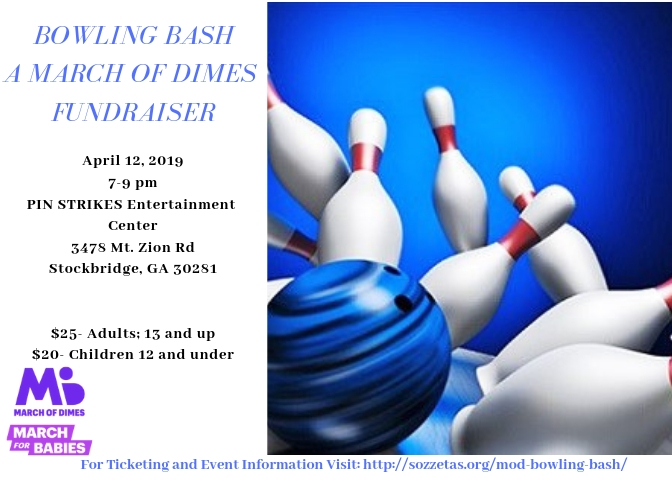 April 12, 2019: March of Dimes Bowling Bash