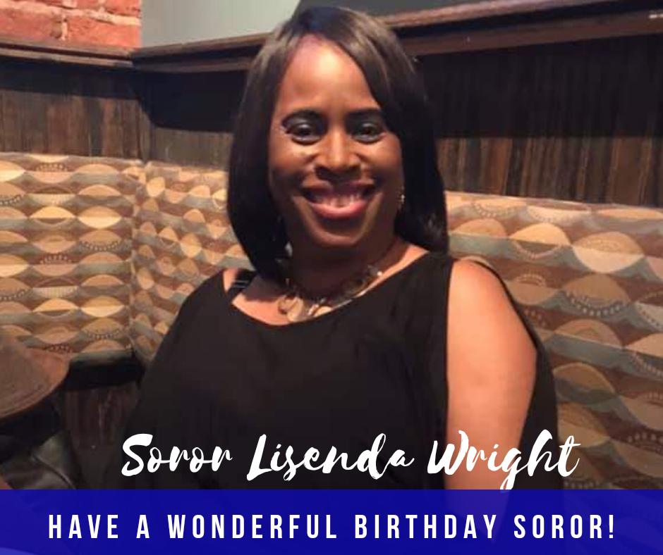 Happy Birthday Soror Lisenda Wright