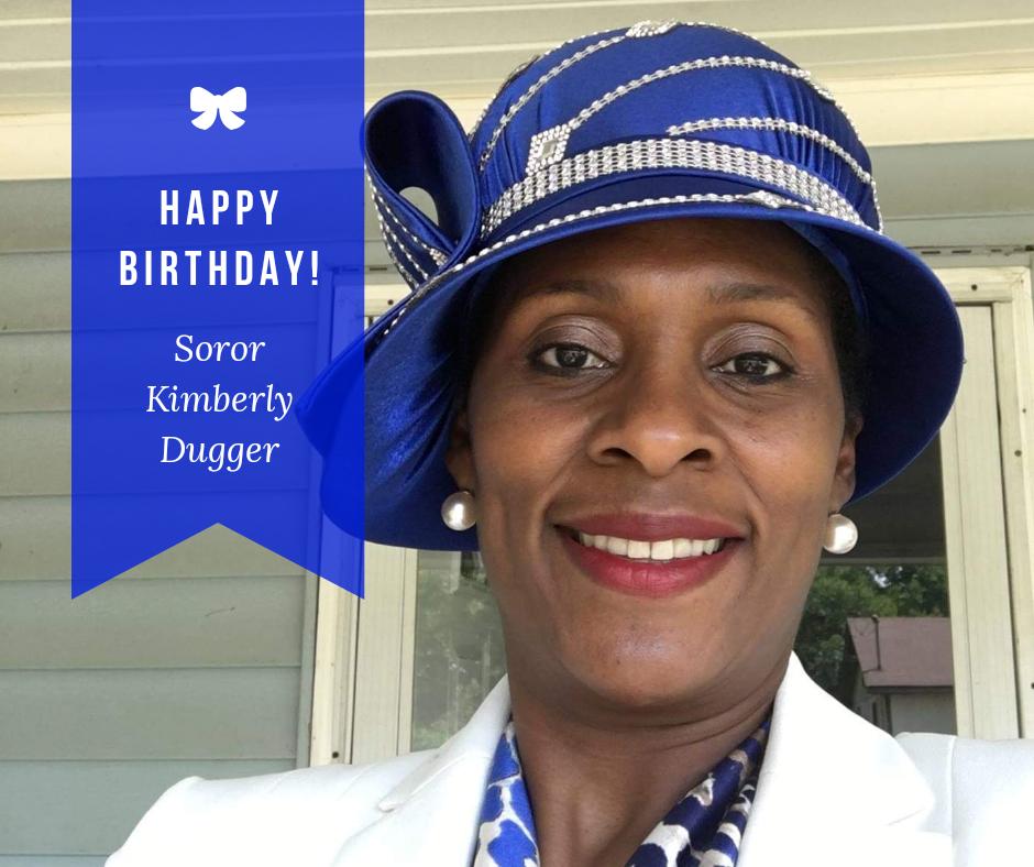 Happy Birthday Soror Kimberly Dugger
